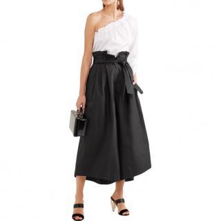Fendi Black Cotton-taffeta culottes