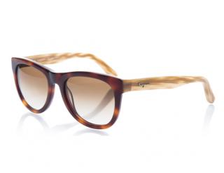 Ferragamo SF 685S Beige/Brown Sunglasses