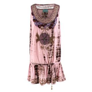 TAJ by Sabrina Crippa Embellished Tie-Dye Top