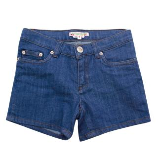 Bonpoint Girls Blue Denim Shorts