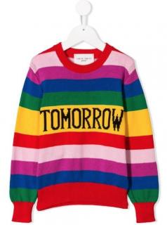 Alberta Ferretti Kids' Tomorrow Striped Jumper In Red