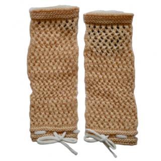Gucci Open Knit Fingerless Gloves