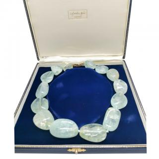 Cassandra Goad Aquamarine Beaded Necklace