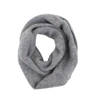 Bonpoint Grey Confetti Girls Cashmere Neck Warmer Scarf