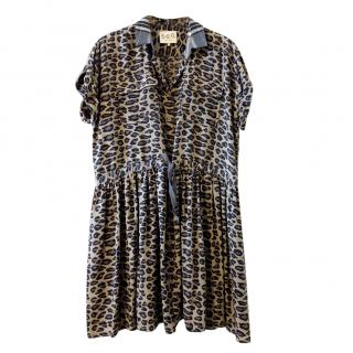 Sea New York Leopard Print Shirt Dress