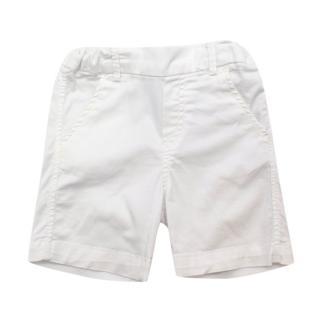 Tartine et Chocolat Baby Boys White Bermuda Shorts