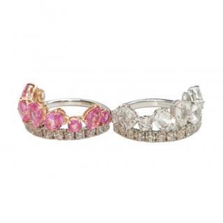 William & Son Beneath The Rose Sapphire & Diamond 18ct Tiara Ring Set