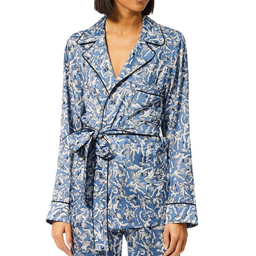 Victoria Beckham Blue Printed Pyjama Shirt