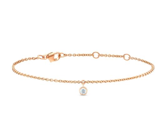 De Beers 18kt Rose Gold Clea One Diamond Bracelet