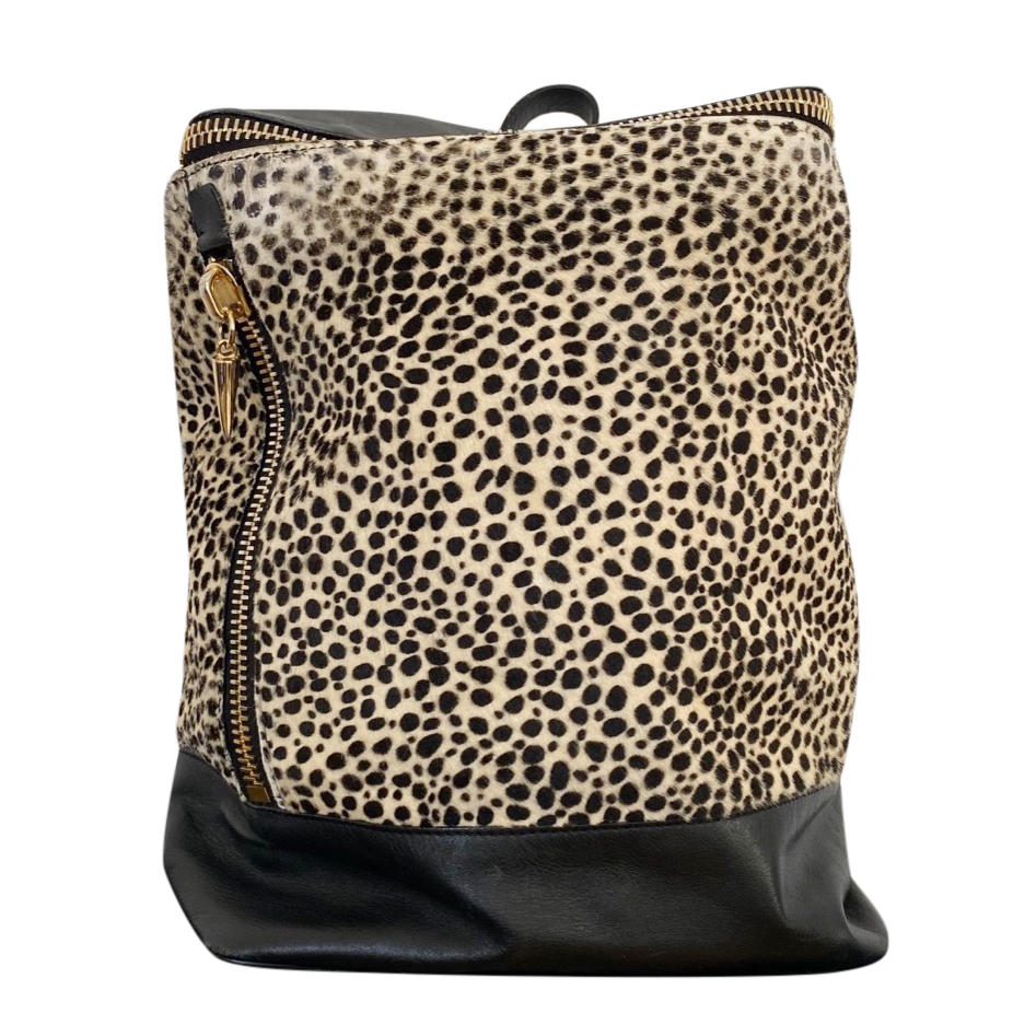 Giuseppe Zanotti Pony Hair Leopard Print Backpack