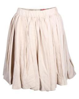 Lanvin full cut beige cotton Skirt