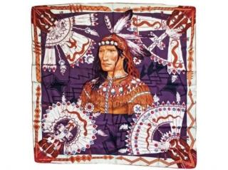 Hermes Cosmogonie Apache Silk Scarf 90