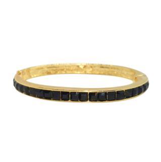 Kenneth Lane Black Crystal Stacking Bracelet