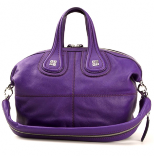 Givenchy Purple Leather Nightingale Tote Bag