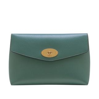 Mulberry Large Darley Cosmetic Pouch in Dark Frozen Blue