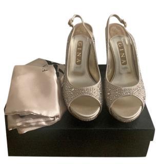 Gina Crystal Embellished Slingback Sandals