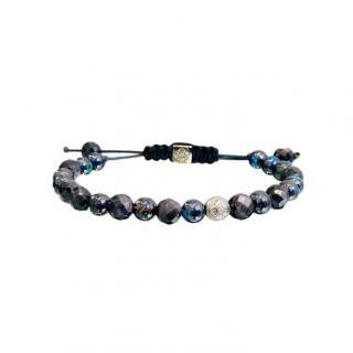Shamballa Opal & Sapphire 18ct Gold Corded Bracelet