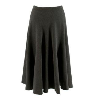Michael Kors Grey Classic Midi Skirt