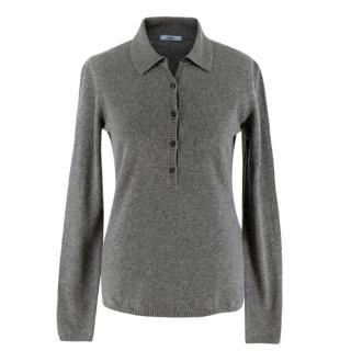 Malo Grey Cashmere Polo Jumper