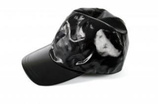 Chanel Black PVC CC Logo Cap