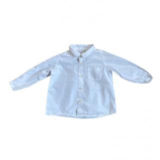 Bonpoint White Kids Button Down Shirt