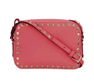 Valentino Coral Pink Rockstud Mini Crossbody Bag