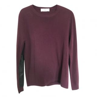 Pringle Fine Wool & Cashmere Leather Panel Jumper
