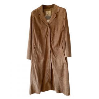 Max Mara Brown Suede Coat