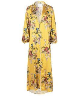 Johanna Ortiz Printed Silk Lounge Coat/Dress/Robe