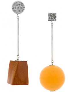 Jacquemus Asymmetric La Bille Earrings