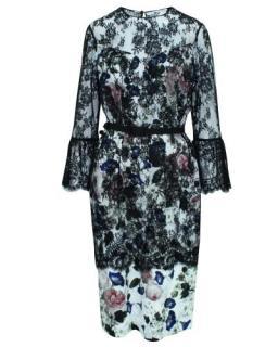 Erdem belted Floral Dress
