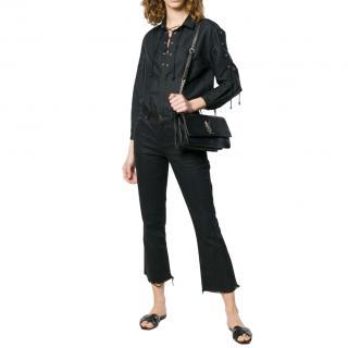 Saint Laurent Lace-Up Longline Shirt