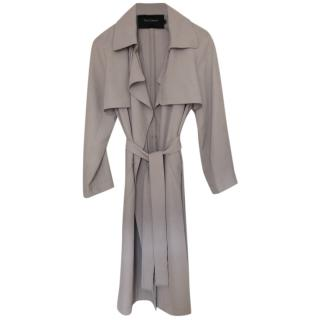 Tara Jarmon Grey Tailored Wool Trench Coat