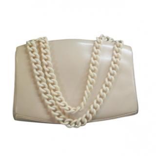 Roger Vivier Vintage Cream Chain Handle Tote Bag
