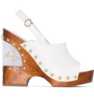 Sophia Webster White Paradise Wedge Sandals