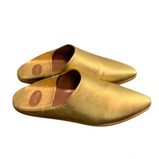 Celine Gold Jacno Babouche slippers/mules  - 2020 collection