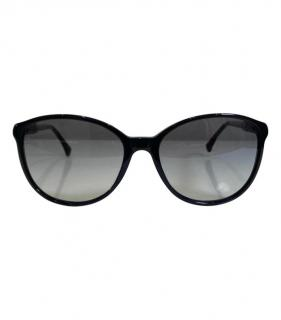 Chanel Black frame Studded 'CC' Logo Sunglasses