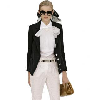 Chanel Black SIlk Blend Runway Classic Jacket