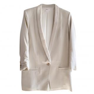 Helmut Lang Cream Tailored Longline Jacket