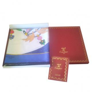 Cartier bird printed silk must de Cartier scarf
