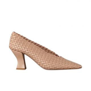 Bottega Veneta Intrecciato nappa leather Almond Pumps