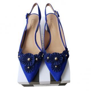 Aquazzura Bluebell Suede Slingback Sandals