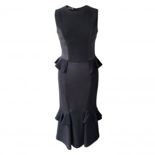 Moscino Cheap & Chic Black Fitted Ruffle Dress