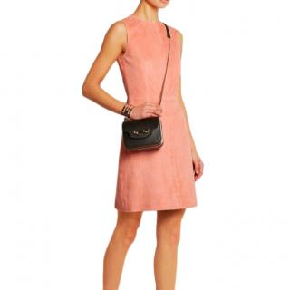 Balenciaga Suede A-Line Sleeveless Dress