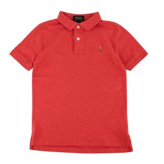 Polo Ralph Lauren Red Cotton Short Sleeve Polo Shirt