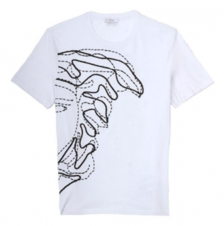 Versace White/Black Medusa Head T-Shirt