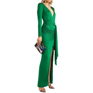 Alice + Olivia Emerald Green Kyra Fitted Gown
