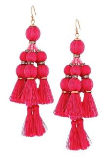 Kate Spade Pink Tassel Drop Earrings