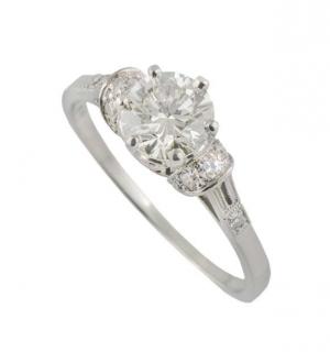 Bespoke Platinum Set Diamond Ring