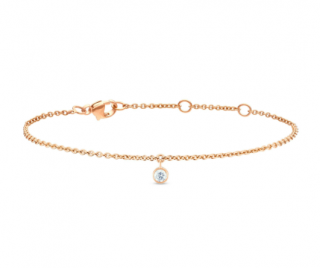 De Beers 18kt Rose Gold Clea One Diamond Bracelet